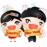 Live More, Bank Less. DBS. Sticker for LINE & WhatsApp | ZIP: GIF & PNG