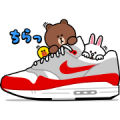 NIKE × BROWN & FRIENDS Sticker for LINE & WhatsApp | ZIP: GIF & PNG
