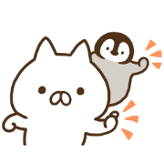 Penguin and Cat Days Sticker for LINE & WhatsApp | ZIP: GIF & PNG