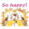 Rascal and Lily: Fluffy Love Sticker for LINE & WhatsApp | ZIP: GIF & PNG