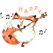 Sesame Fox: On the Daily Sticker for LINE & WhatsApp | ZIP: GIF & PNG