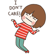 Single Girl by Plariex Sticker for LINE & WhatsApp | ZIP: GIF & PNG