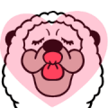 Smiling Alpaca 5 Sticker for LINE & WhatsApp | ZIP: GIF & PNG