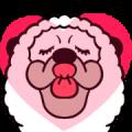 Smiling Alpaca 5 Sticker for LINE & WhatsApp   ZIP: GIF & PNG
