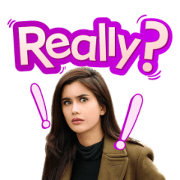 Strange Girl in a Strange Land Sticker for LINE & WhatsApp | ZIP: GIF & PNG