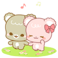 Sugar Cubs: Mocha & Latte (With Sound) Sticker for LINE & WhatsApp | ZIP: GIF & PNG