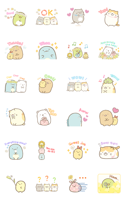 Sumikko Gurashi Everyday Stickers Line Sticker GIF & PNG Pack: Animated & Transparent No Background | WhatsApp Sticker