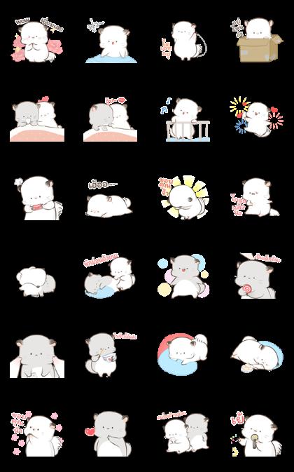Super Soft Simao & Bamao 2 Line Sticker GIF & PNG Pack: Animated & Transparent No Background | WhatsApp Sticker