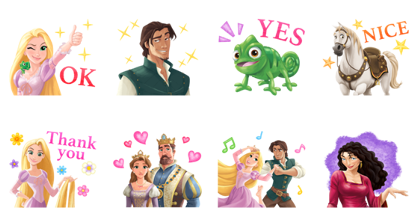 Tangled (Special Event) Line Sticker GIF & PNG Pack: Animated & Transparent No Background | WhatsApp Sticker
