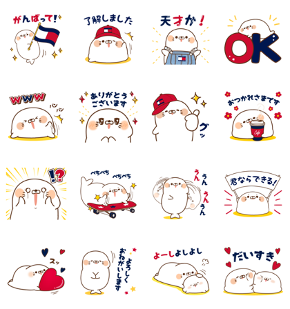 Tommy Hilfiger Stickers 2 Line Sticker GIF & PNG Pack: Animated & Transparent No Background | WhatsApp Sticker