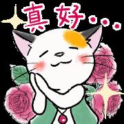 Tortoiseshell Cat Mitch Sticker for LINE & WhatsApp | ZIP: GIF & PNG
