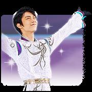 Yuzuru Hanyu 3.11SMILE sticker Sticker for LINE & WhatsApp   ZIP: GIF & PNG