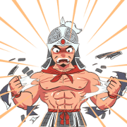3KOK : Young Warrior Sticker for LINE & WhatsApp | ZIP: GIF & PNG