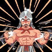 3KOK : Young Warrior Sticker for LINE & WhatsApp | ZIP: GIF & PNG