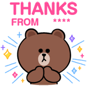 BROWN & FRIENDS Custom Stickers Sticker for LINE & WhatsApp | ZIP: GIF & PNG