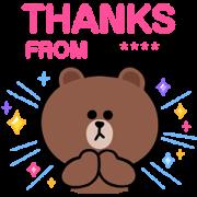 BROWN & FRIENDS Custom Stickers Sticker for LINE & WhatsApp   ZIP: GIF & PNG