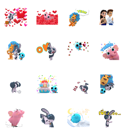 Blink Blink by Bangkok Bank - 14005 Line Sticker GIF & PNG Pack: Animated & Transparent No Background | WhatsApp Sticker