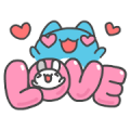 BugCat-Capoo: Tutu in Love Sticker for LINE & WhatsApp | ZIP: GIF & PNG