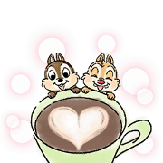 Chip 'n' Dale: Mini Size Sticker for LINE & WhatsApp | ZIP: GIF & PNG
