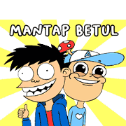 Dalang Pelo × Si Juki Sticker for LINE & WhatsApp | ZIP: GIF & PNG