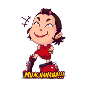 Emak Matic: The Queen of the Street Sticker for LINE & WhatsApp | ZIP: GIF & PNG