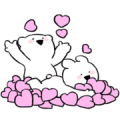 Extremely Little Rabbit & Bear Sticker for LINE & WhatsApp | ZIP: GIF & PNG