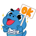 Godji and Friends: Summer Collection Sticker for LINE & WhatsApp | ZIP: GIF & PNG