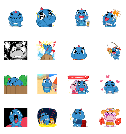 Godji and Friends: Summer Collection Line Sticker GIF & PNG Pack: Animated & Transparent No Background | WhatsApp Sticker