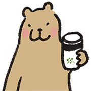 Greenvines × Xiuxiubear: 21 Days of Green Sticker for LINE & WhatsApp | ZIP: GIF & PNG