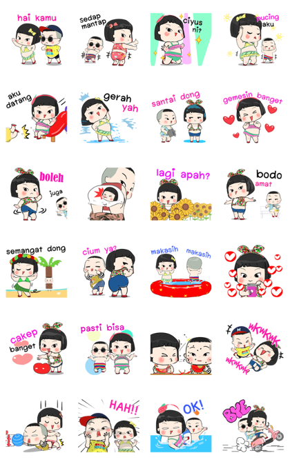 Khing Khing and Mhoo Deng Line Sticker GIF & PNG Pack: Animated & Transparent No Background | WhatsApp Sticker