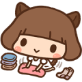Kinoko - Puppy Girl Sticker for LINE & WhatsApp | ZIP: GIF & PNG