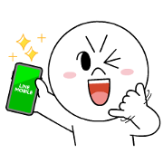LINE MOBILE & LINE FRIENDS Happy Days Sticker for LINE & WhatsApp | ZIP: GIF & PNG