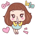 Miedie Oohlala Sticker for LINE & WhatsApp | ZIP: GIF & PNG