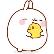 Molang & Piu Piu Sticker for LINE & WhatsApp | ZIP: GIF & PNG