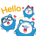 PIGGY GANG: Hello Summer Sticker for LINE & WhatsApp | ZIP: GIF & PNG