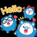 PIGGY GANG: Hello Summer Sticker for LINE & WhatsApp | ZIP: GIF & PNG