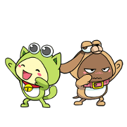 PiPoYa: Cute Friendship Sticker for LINE & WhatsApp | ZIP: GIF & PNG