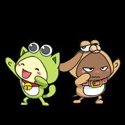 PiPoYa: Cute Friendship Sticker for LINE & WhatsApp | ZIP: GIF & PNG