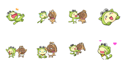 PiPoYa: Cute Friendship Line Sticker GIF & PNG Pack: Animated & Transparent No Background | WhatsApp Sticker