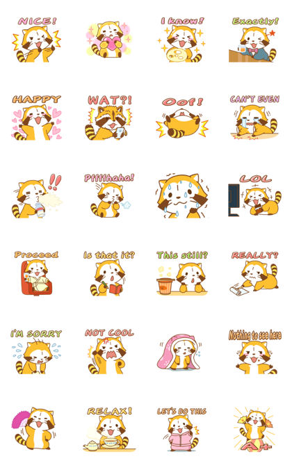 Rascal Quick Replies Line Sticker GIF & PNG Pack: Animated & Transparent No Background | WhatsApp Sticker