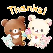 Rilakkuma:Korilakkuma Happy Ice cream Sticker for LINE & WhatsApp | ZIP: GIF & PNG