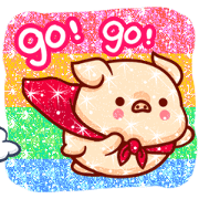 Shine Pig: Shine Your Chat Sticker for LINE & WhatsApp | ZIP: GIF & PNG