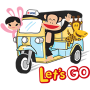 UOB X Paul Frank Sticker for LINE & WhatsApp | ZIP: GIF & PNG