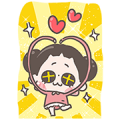 [BIG] Chuchumei Thankful Stickers Sticker for LINE & WhatsApp | ZIP: GIF & PNG