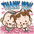 [BIG] Cocoa Thankful Stickers Sticker for LINE & WhatsApp | ZIP: GIF & PNG