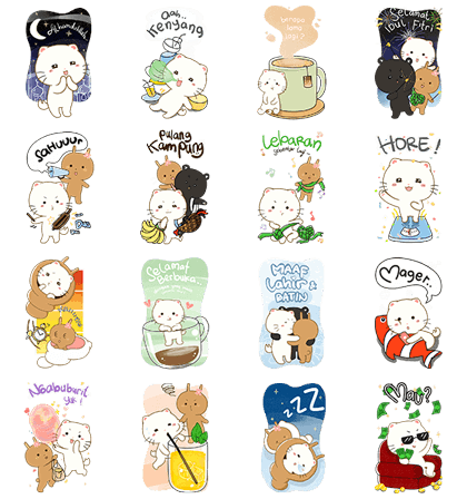 [BIG] Cymo the Fluff: Ramadan Stickers Line Sticker GIF & PNG Pack: Animated & Transparent No Background | WhatsApp Sticker