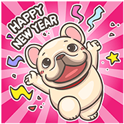 [BIG] PIGU Year-End Stickers Sticker for LINE & WhatsApp | ZIP: GIF & PNG