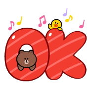 BROWN&FRIENDS Large Letters Sticker for LINE & WhatsApp   ZIP: GIF & PNG