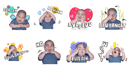 Baby Tatan 2 Line Sticker GIF & PNG Pack: Animated & Transparent No Background | WhatsApp Sticker
