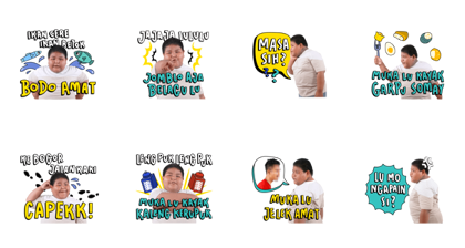 Bang Ijal: Pantun Fiki Line Sticker GIF & PNG Pack: Animated & Transparent No Background | WhatsApp Sticker